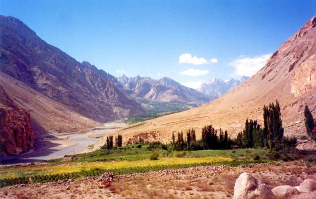 A gorgeous view of the Hunza valley.