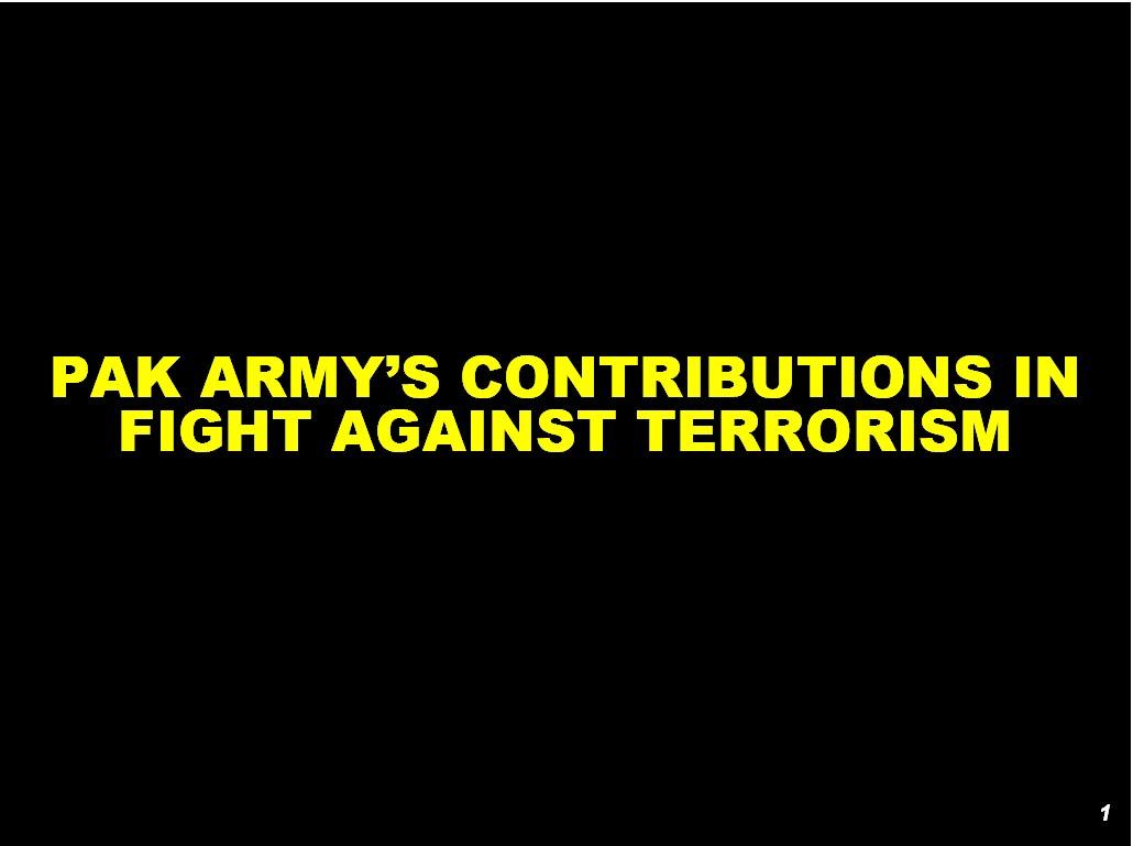 Against Terror Army in War Against Terror