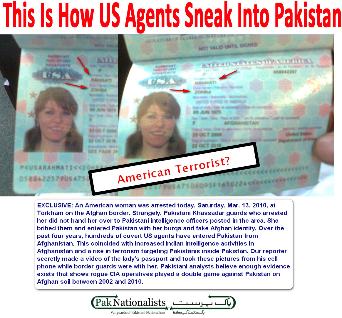 Into Pakistan to Spies And
