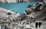 13) Landslide lake in Pakistan